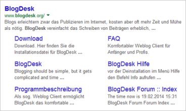 BlogDesk-Google-Suche