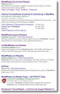 wordpress-forum-Google